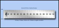Certified Stainless Steel Rulers,  Metric  - 150mm, 300mm, 600mm & 1000mm Lengths - Model 2029A-CERT